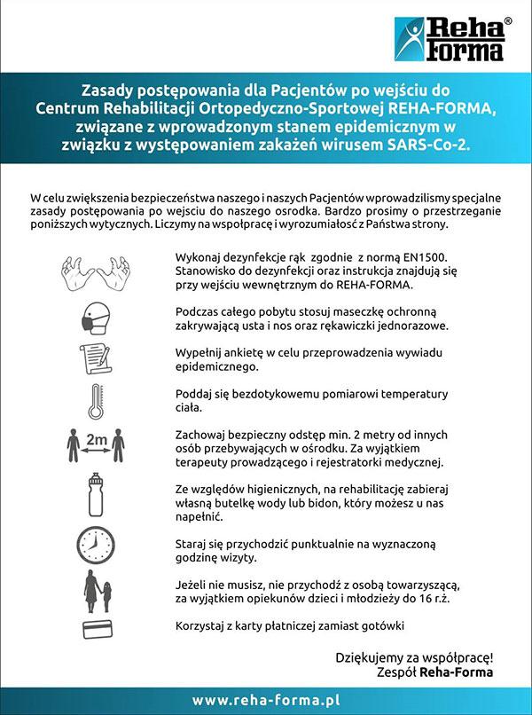 zasady postępowania dla Pacjentów